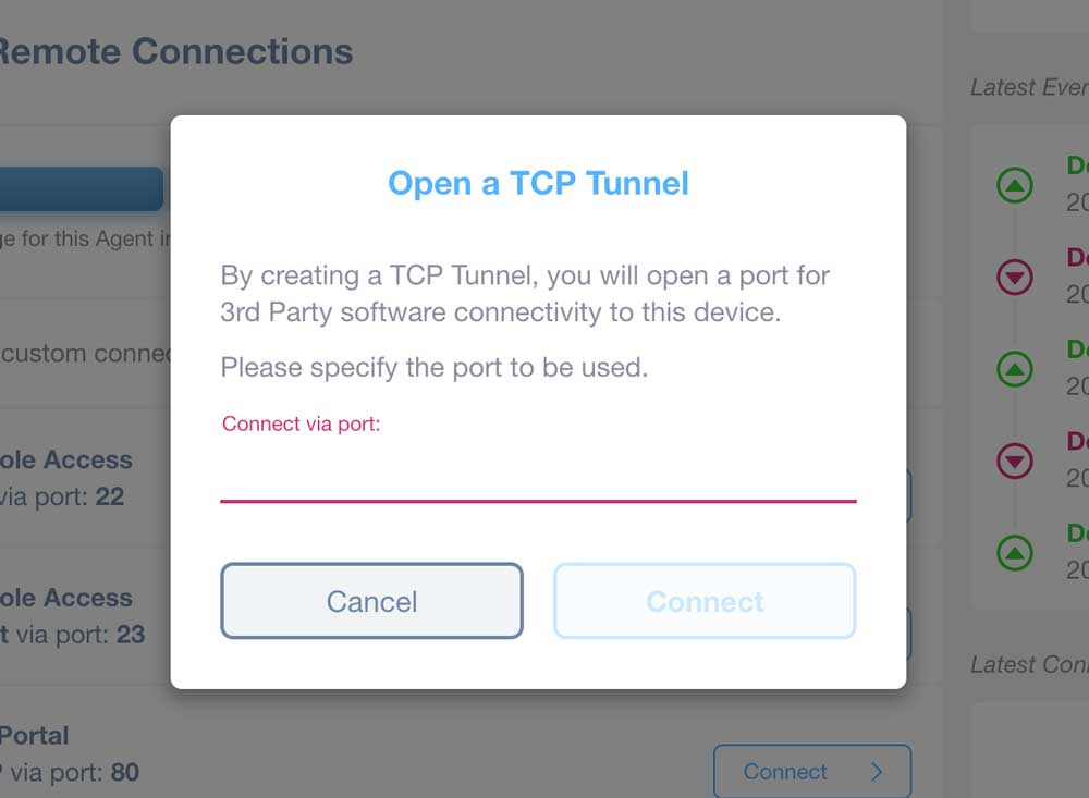 Remote Connection Tool - TCP Tunnel