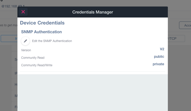 SNMP Monitoring Configuration - SNMP and TCP Service Monitoring