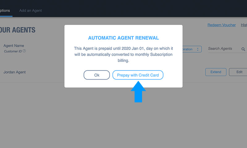 How to Prepay Domotz Agents: Step 3