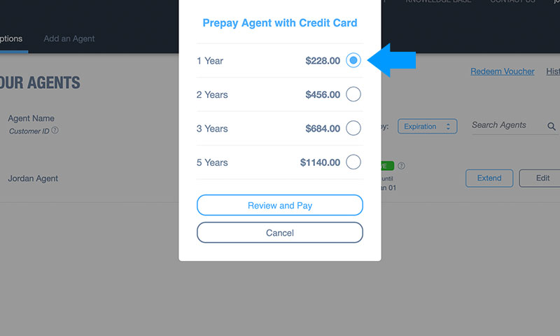 How to Prepay Domotz Agents: Step 4